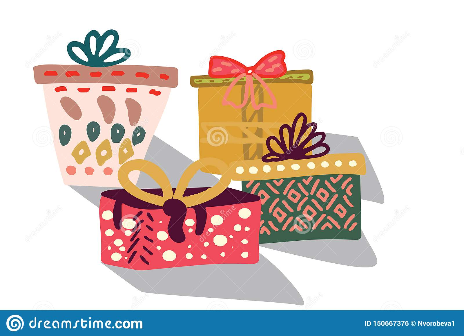 De dozen van de gift met lint