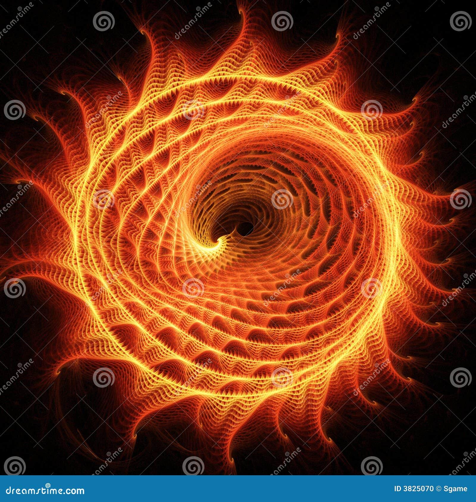 De draakwiel van de brand