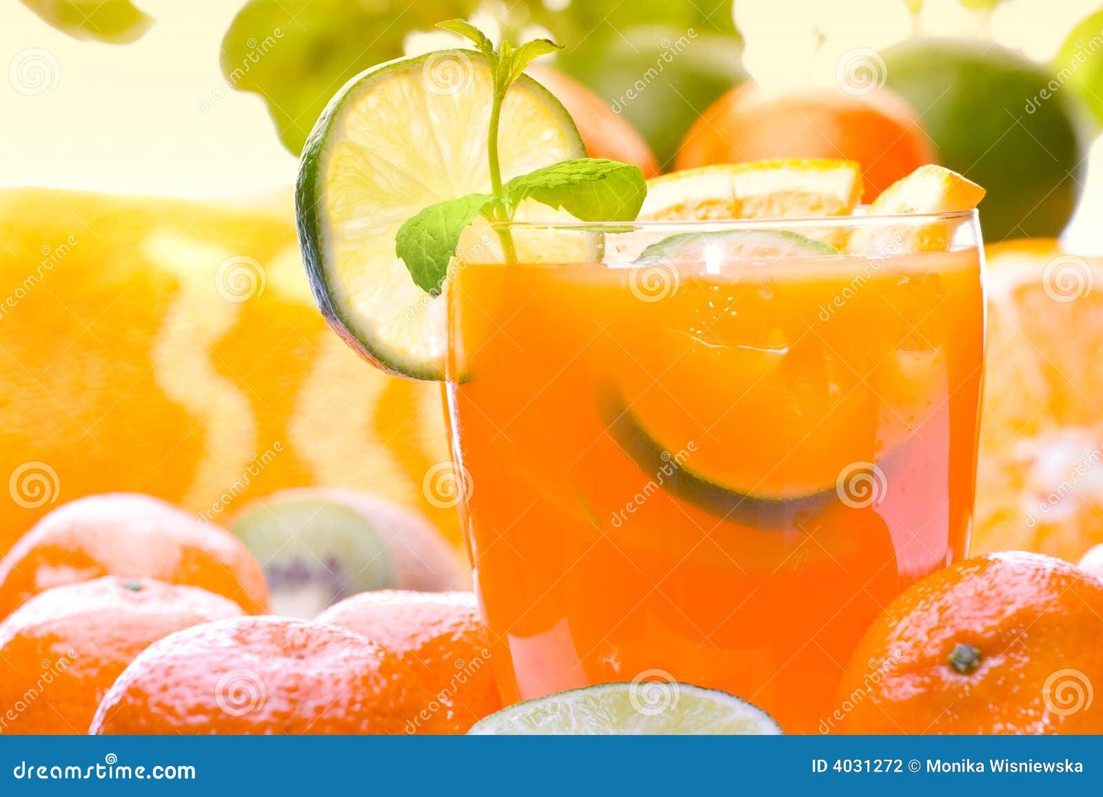 De Drank van de citrusvrucht