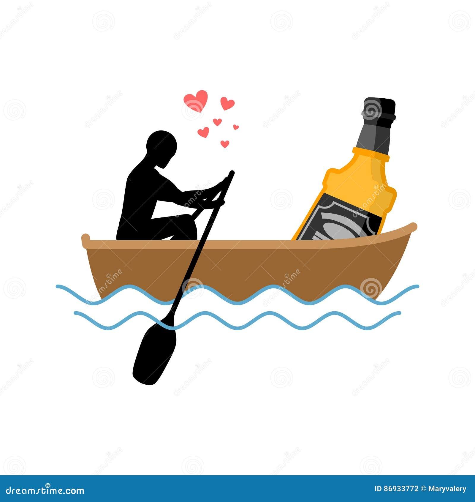 De drank van de minnaaralcohol Mens en fles van de rit van de whiskyboot minnaars