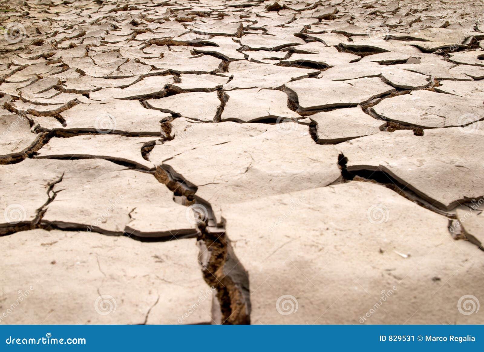 De droge textuur van modderbarsten
