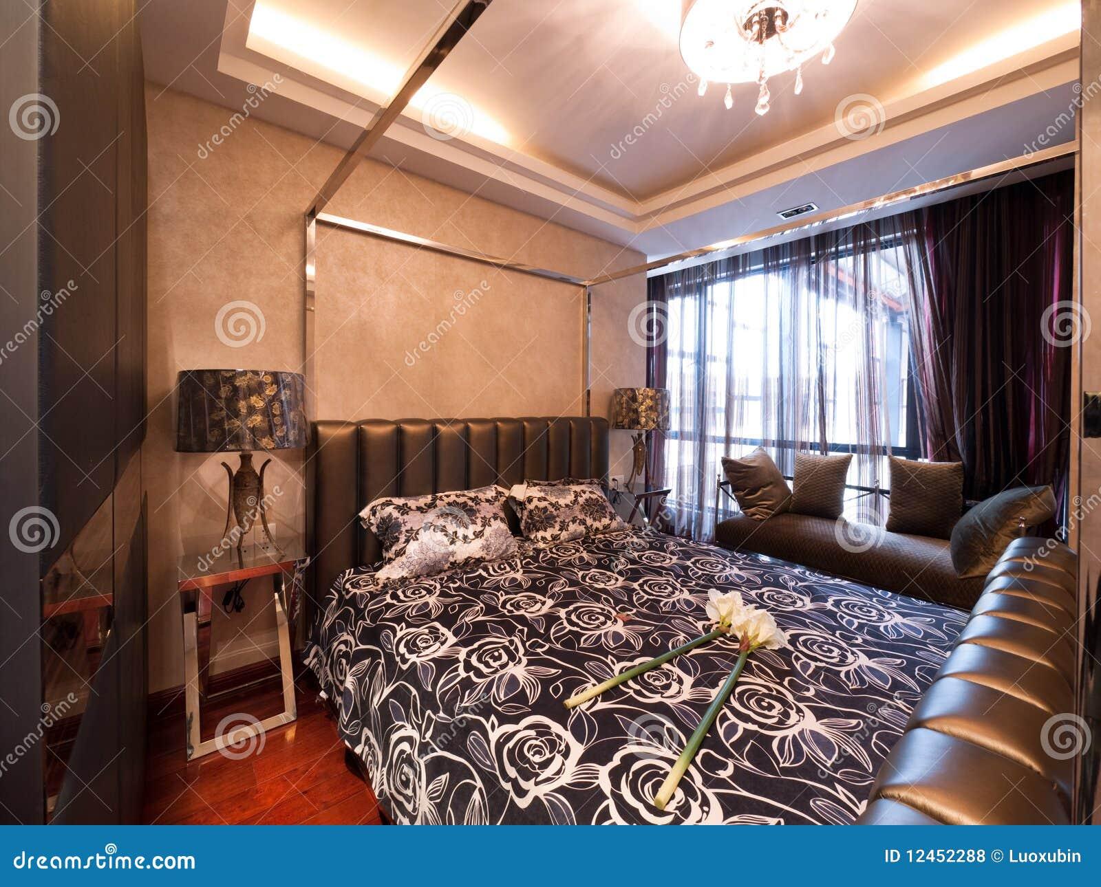 De dure moderne slaapkamer van de luxe royalty vrije stock foto ...