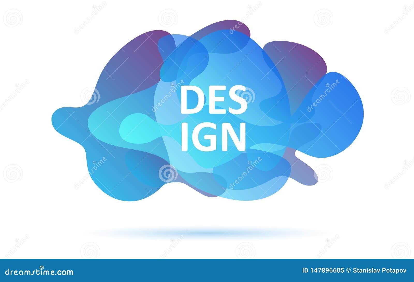 De dynamische vormen, blauwe kleuren, vatten modern grafisch element samen