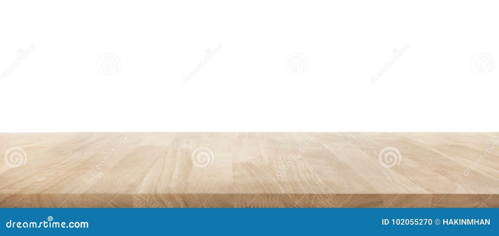 De echte houten textuur van de lijstbovenkant op witte achtergrond