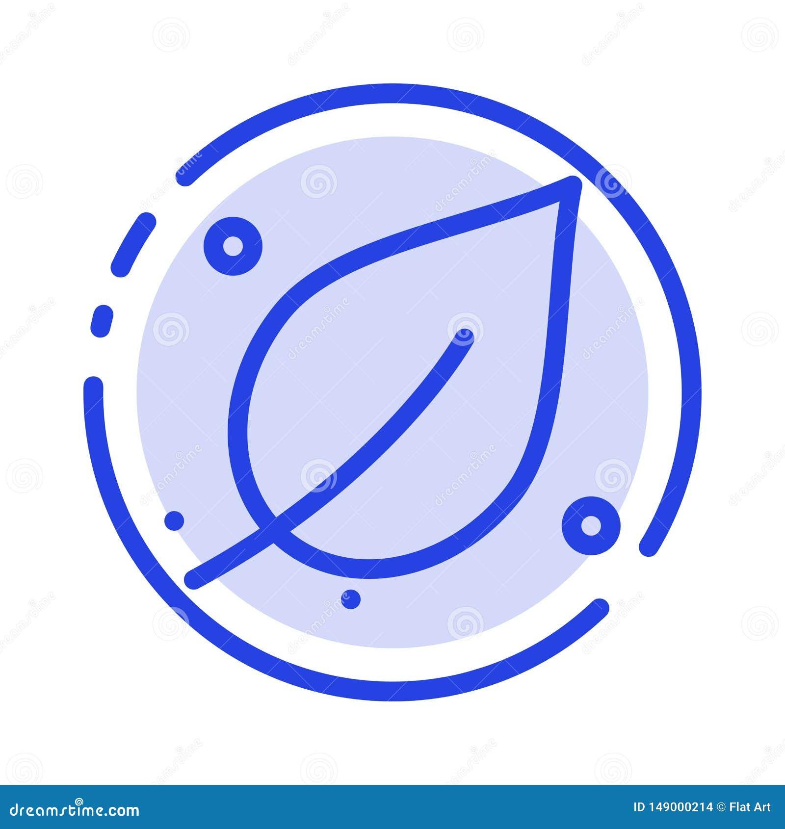 De ecologie, Blad, Aard, springt het Blauwe Pictogram van de Gestippelde Lijnlijn op