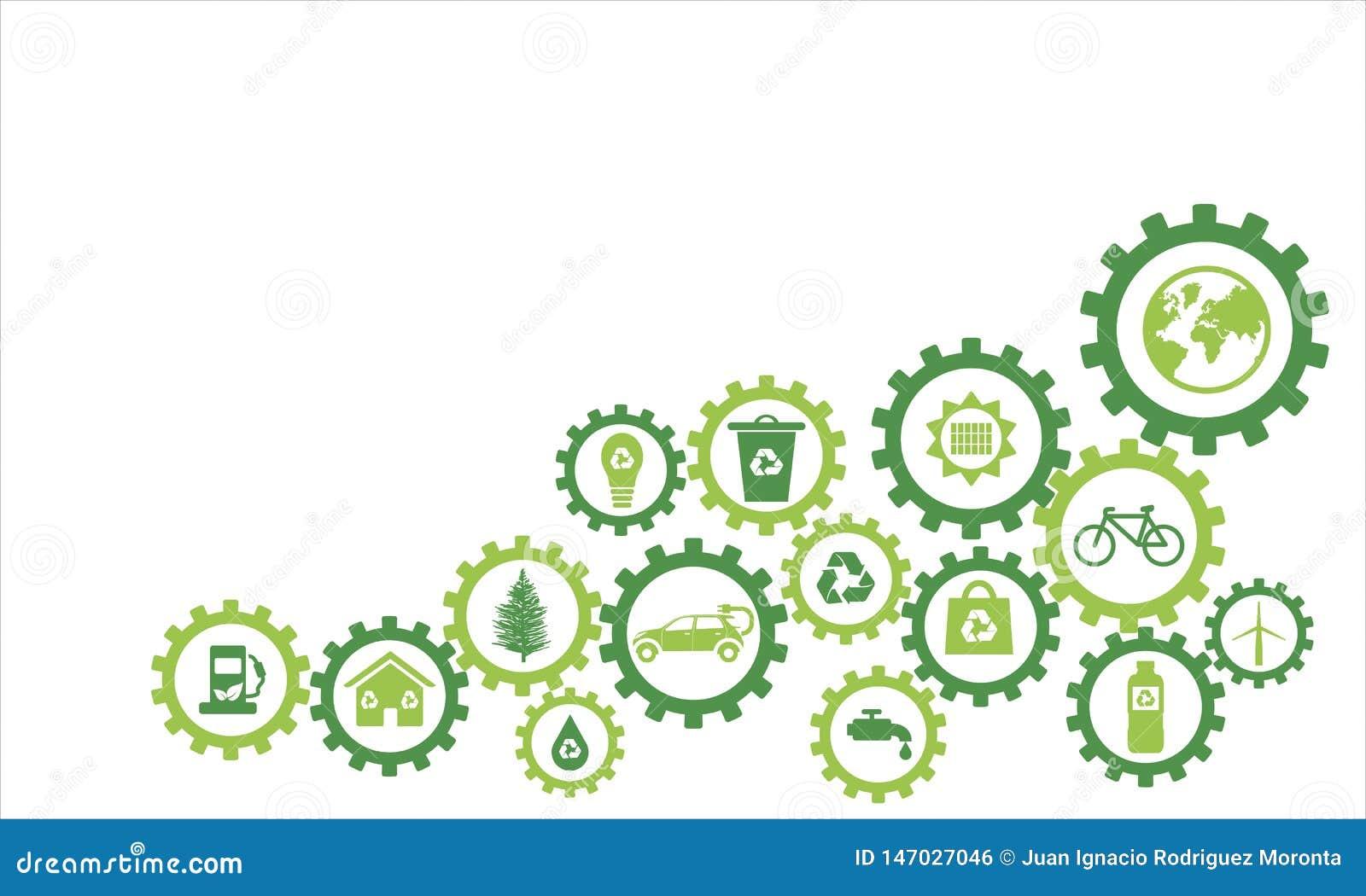 De ecologische pictogrammen van de Infographytand