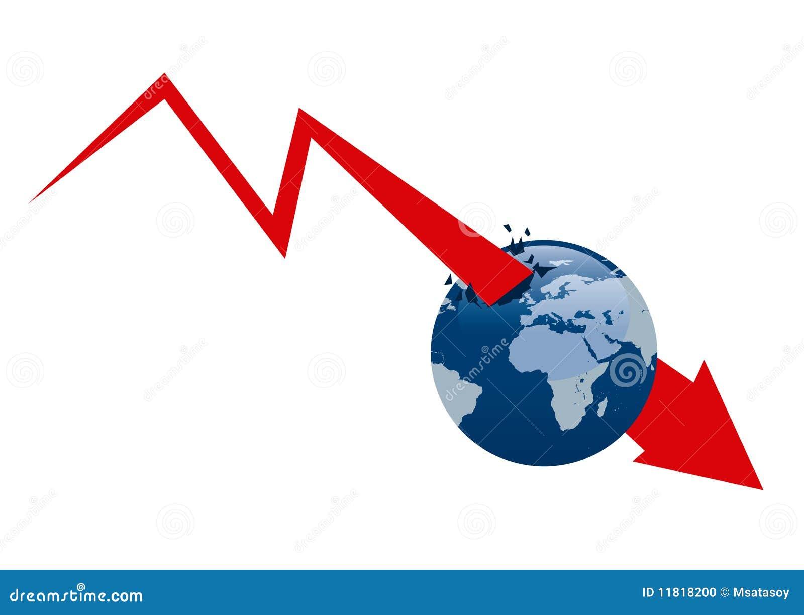 De economische crisis van de wereld stock illustratie afbeelding 11818200 - Bank thuismarkten van de wereld ...