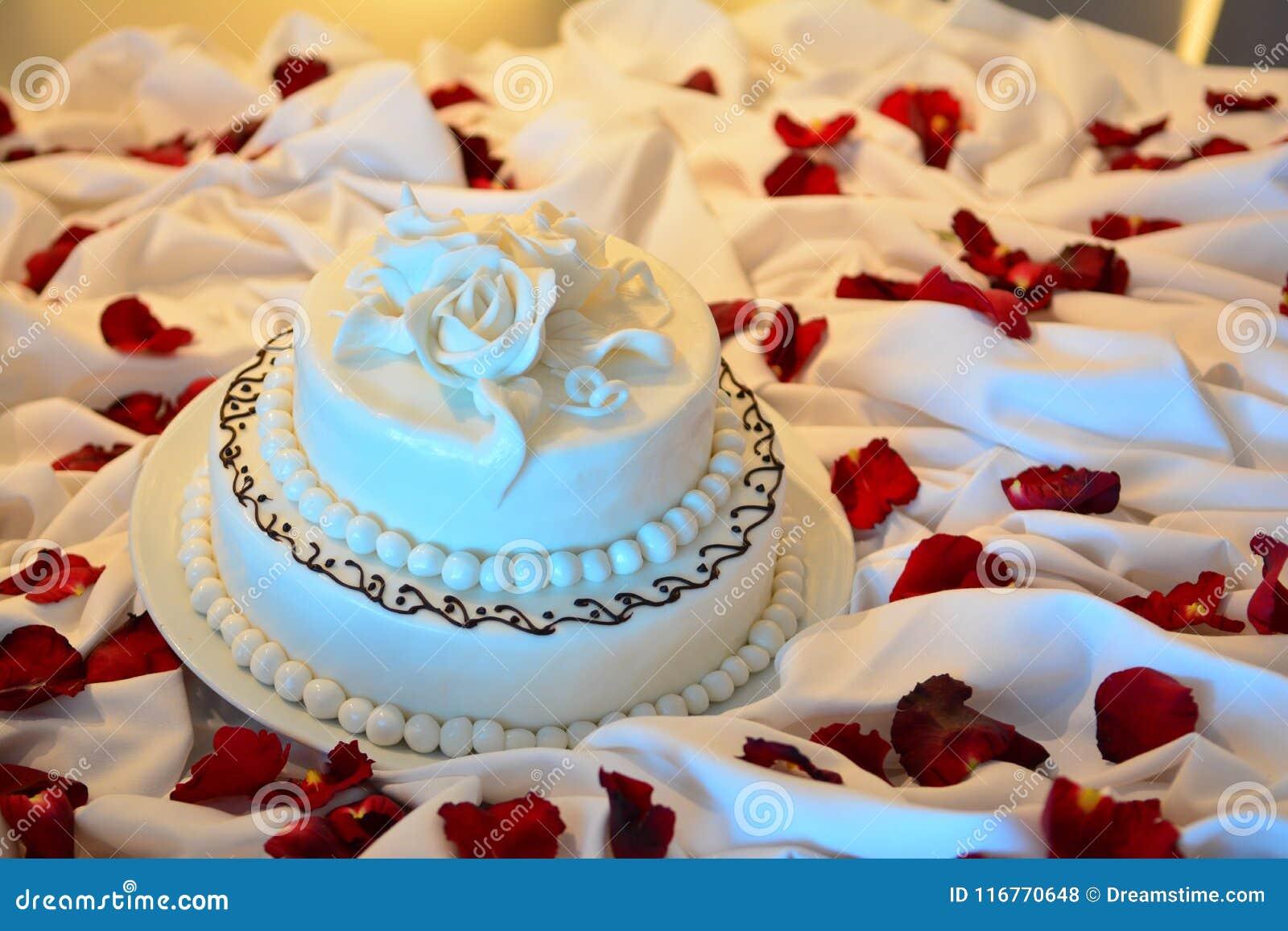 De eenvoudige Cake van het Huwelijk