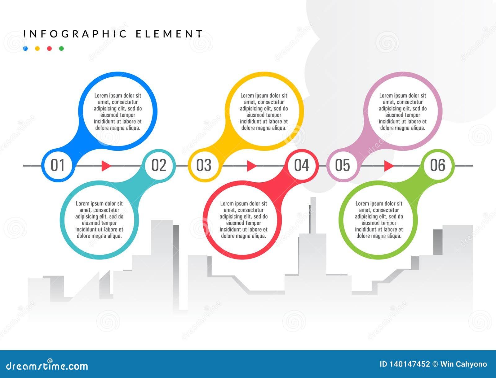 De eenvoudige vlakke kleur van het Infographicelement