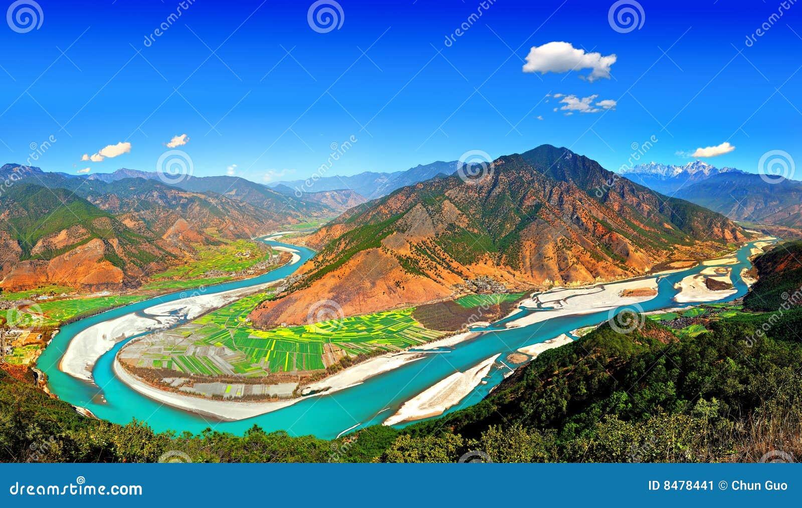 De Eerste Baai van de Rivier van Yangtze