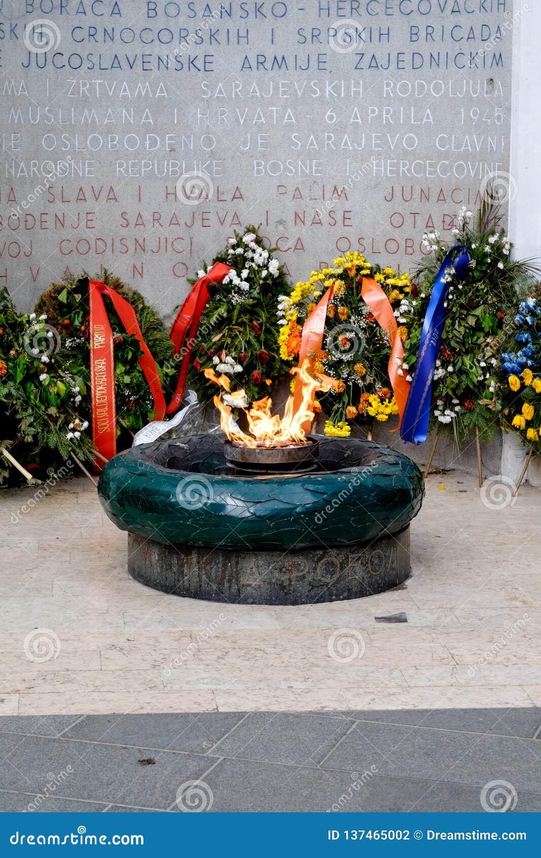 De eeuwige vlam van Sarajevo, Bosnië-Herzegovina