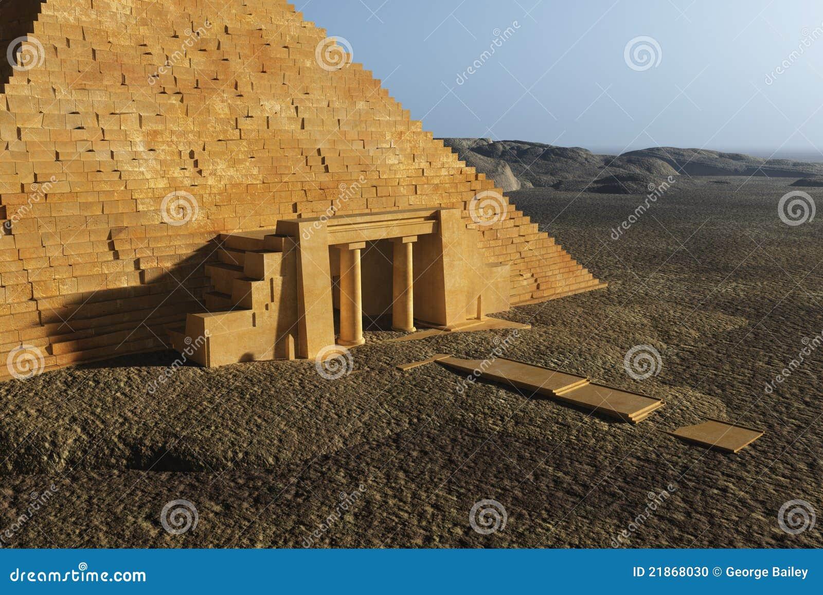 De egyptische ingang van de piramide stock foto afbeelding 21868030 - Ingang van een huis ...