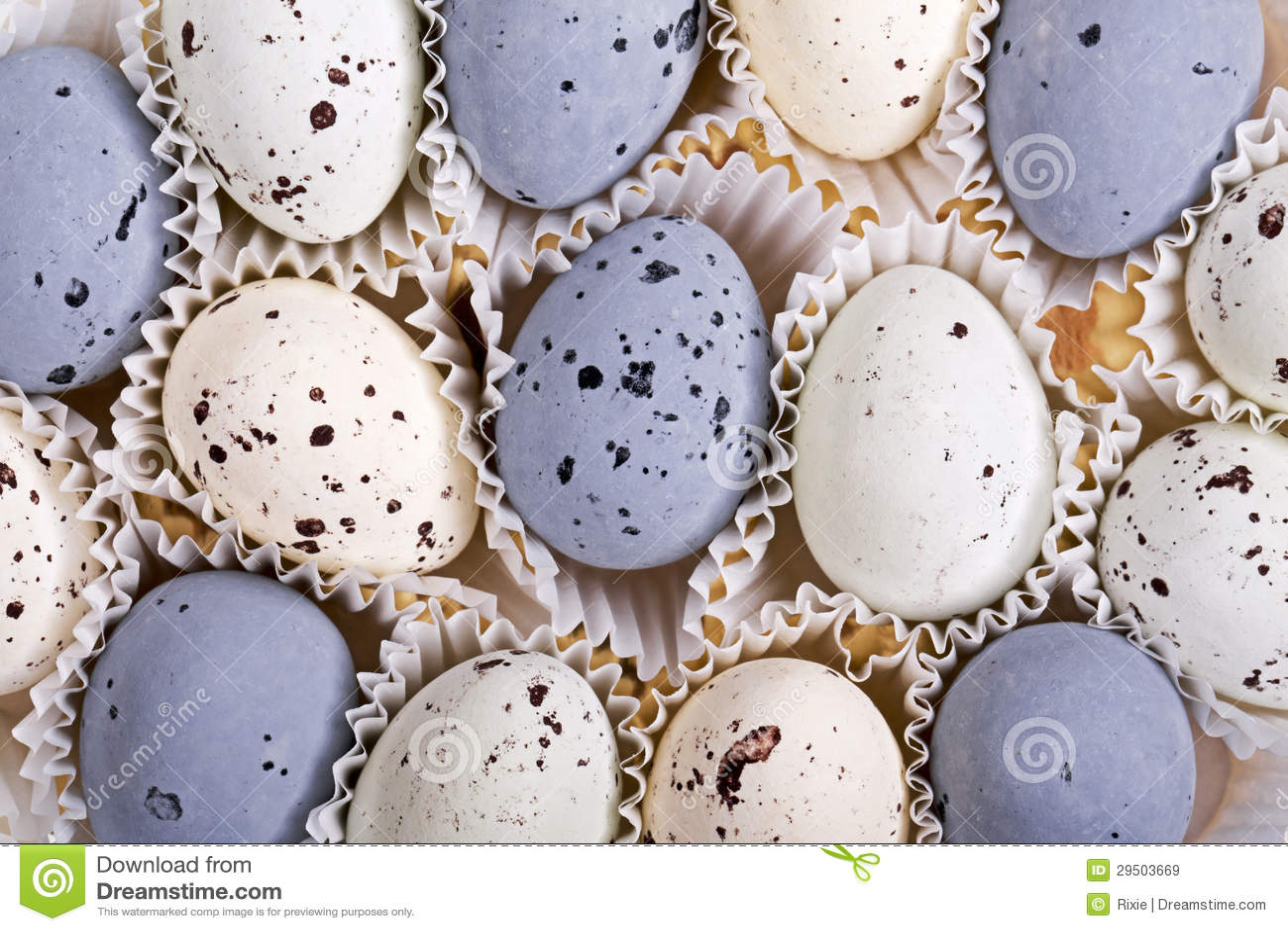 De eieren van het suikergoed