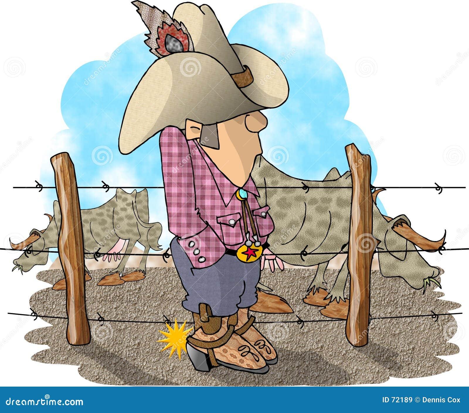 De Eigenaar van een ranch van het vee