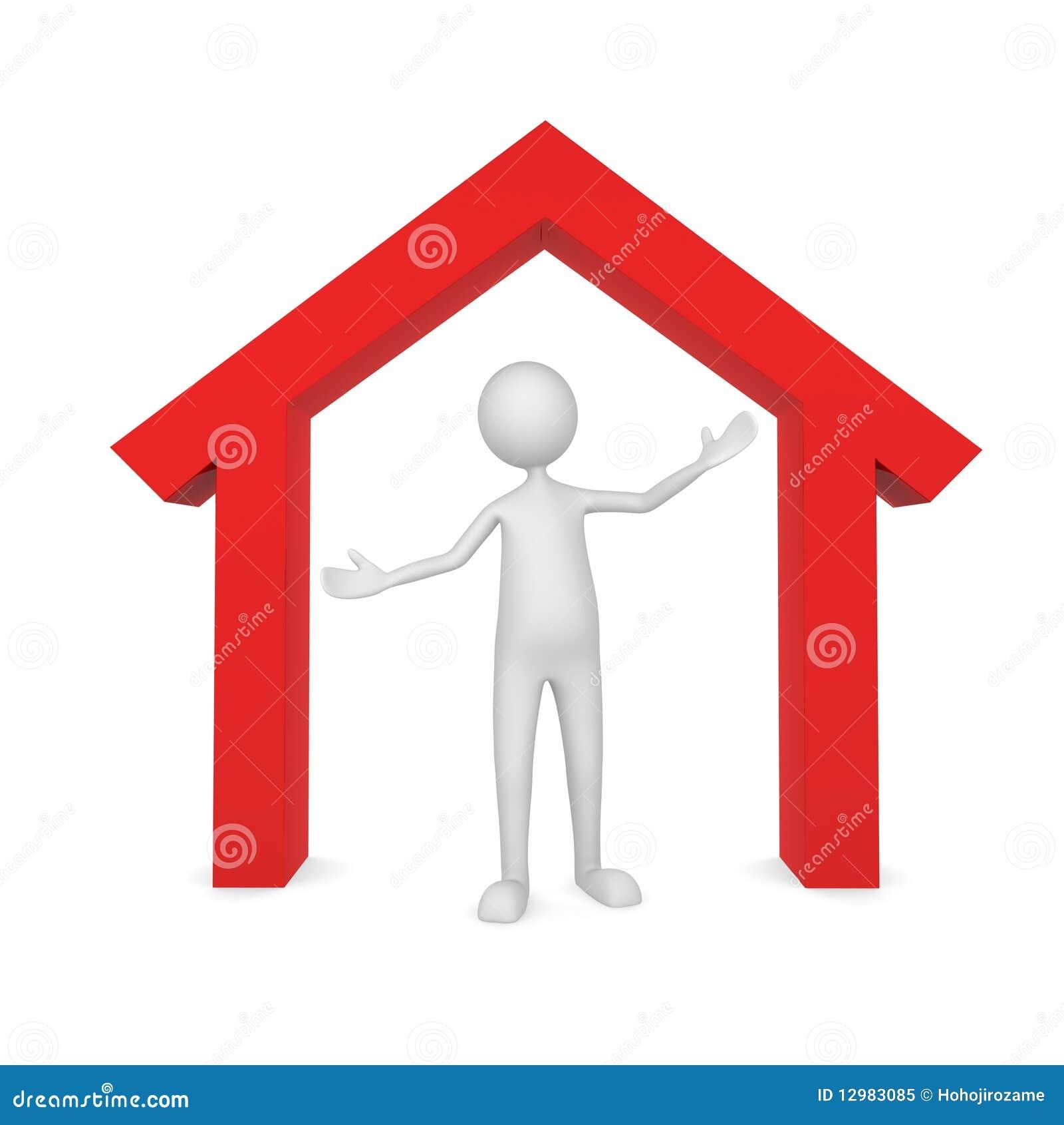 De eigenaar van het huis stock illustratie afbeelding bestaande uit hypotheek 12983085 - Ingang van het hedendaagse huis ...