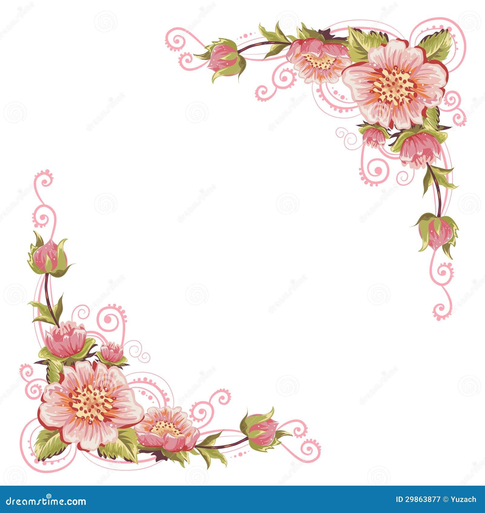 De elegante krommen bloeien hoeken