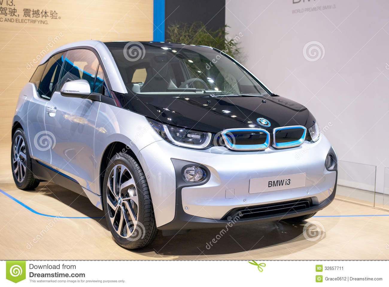 de elektrische auto van bmw i3 redactionele foto. Black Bedroom Furniture Sets. Home Design Ideas