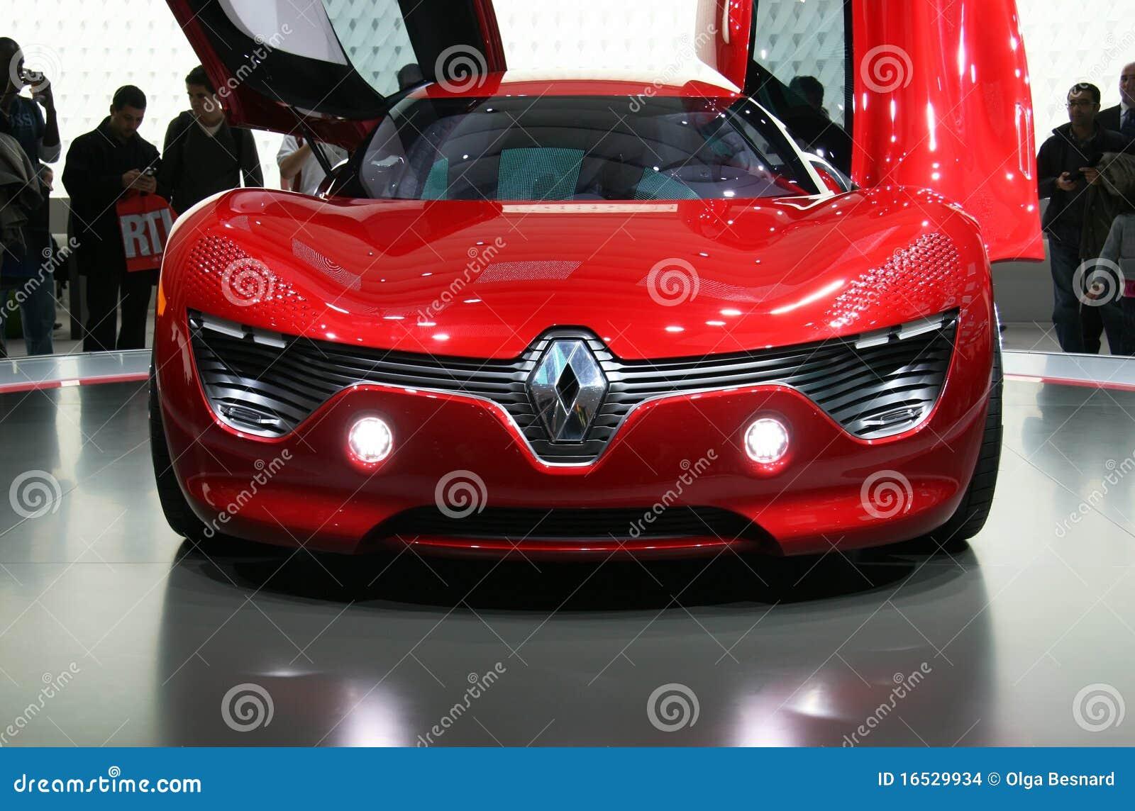De Elektrische Auto Van Renault Dezir Bij De Show Van De Motor Van