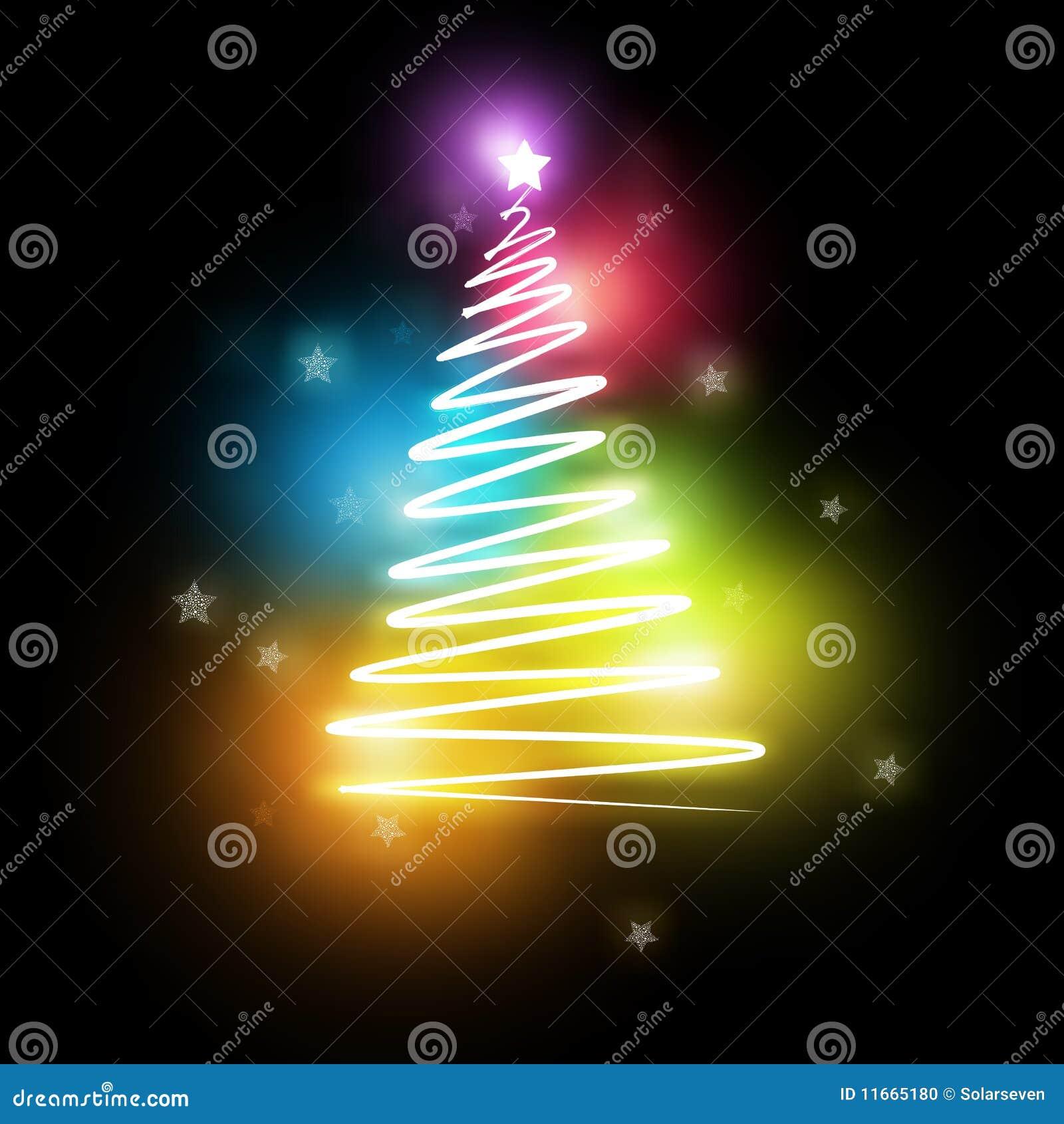 De elektrische Kerstboom van het neon