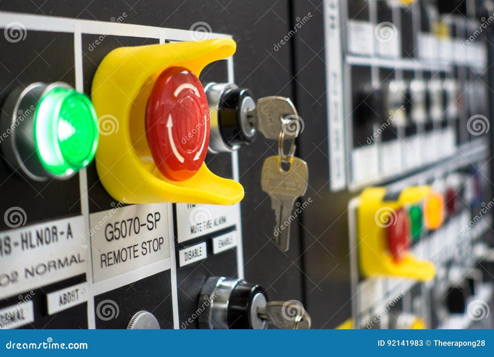 De elektrocontrole van het mechanismepaneel, bij installatie en de procesbeheersing met uitstekende toon met analogon
