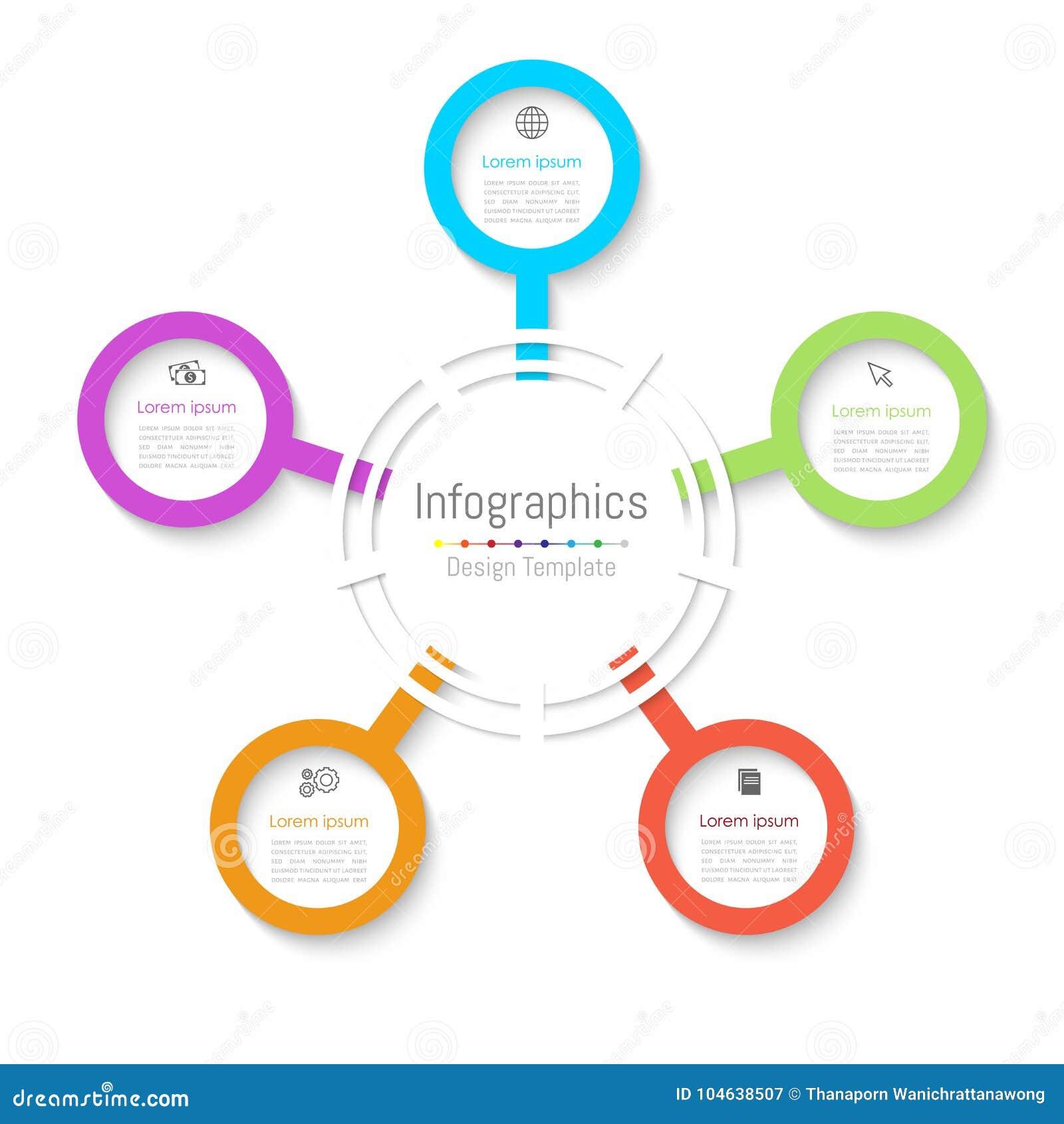 Download De Elementen Van Het Infographicontwerp Voor Uw Bedrijfsgegevens Met 5 Opties Vector Illustratie - Illustratie bestaande uit elementen, achtergrond: 104638507