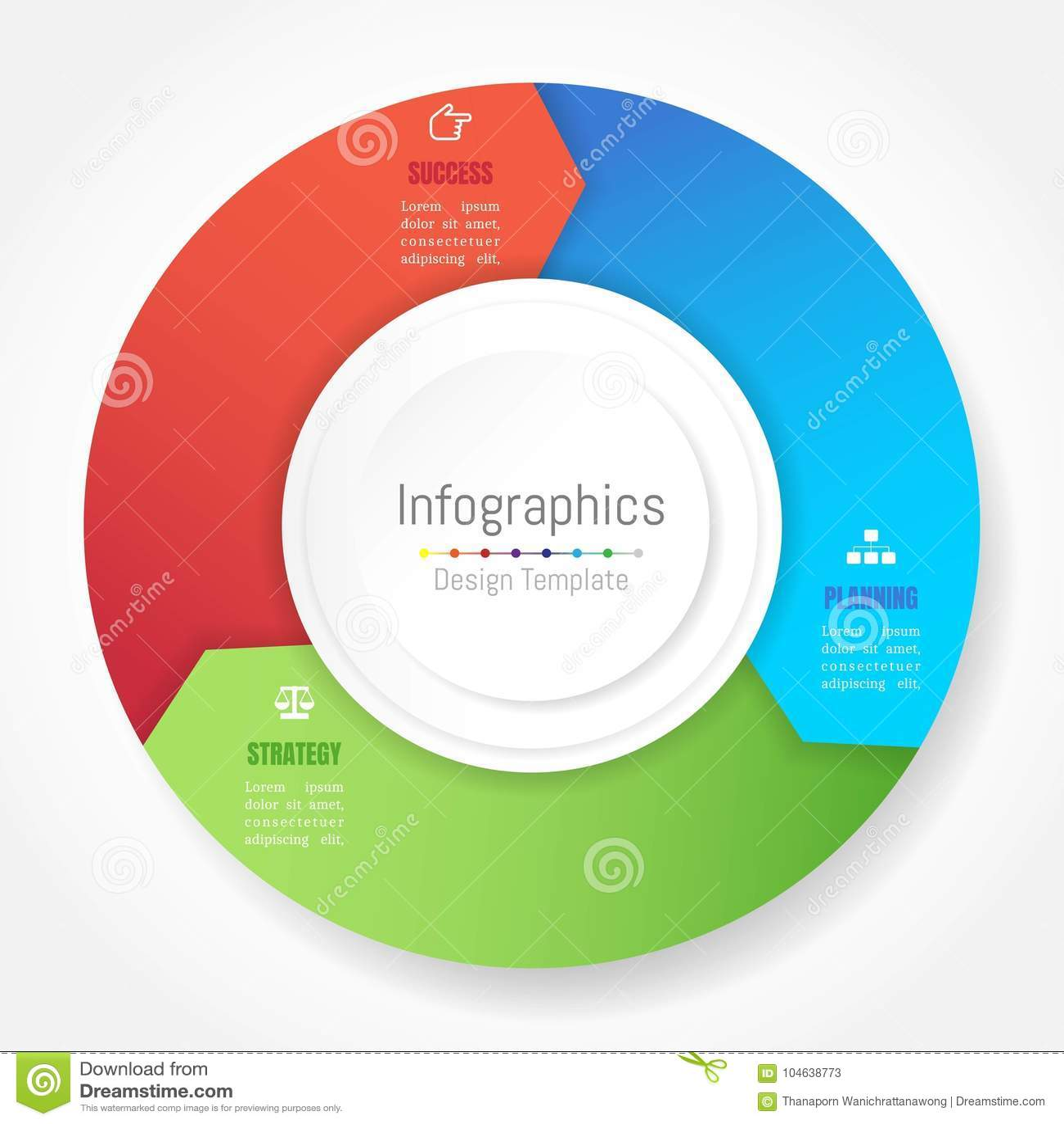 Download De Elementen Van Het Infographicontwerp Voor Uw Bedrijfsgegevens Met 3 Opties Vector Illustratie - Illustratie bestaande uit diagram, etiket: 104638773