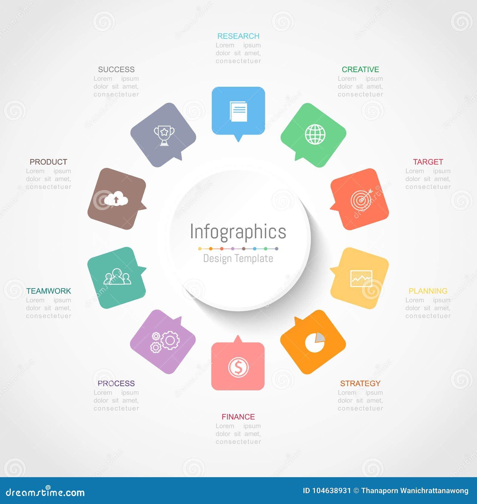 Download De Elementen Van Het Infographicontwerp Voor Uw Bedrijfsgegevens Met 10 Opties Vector Illustratie - Illustratie bestaande uit aantal, mededeling: 104638931