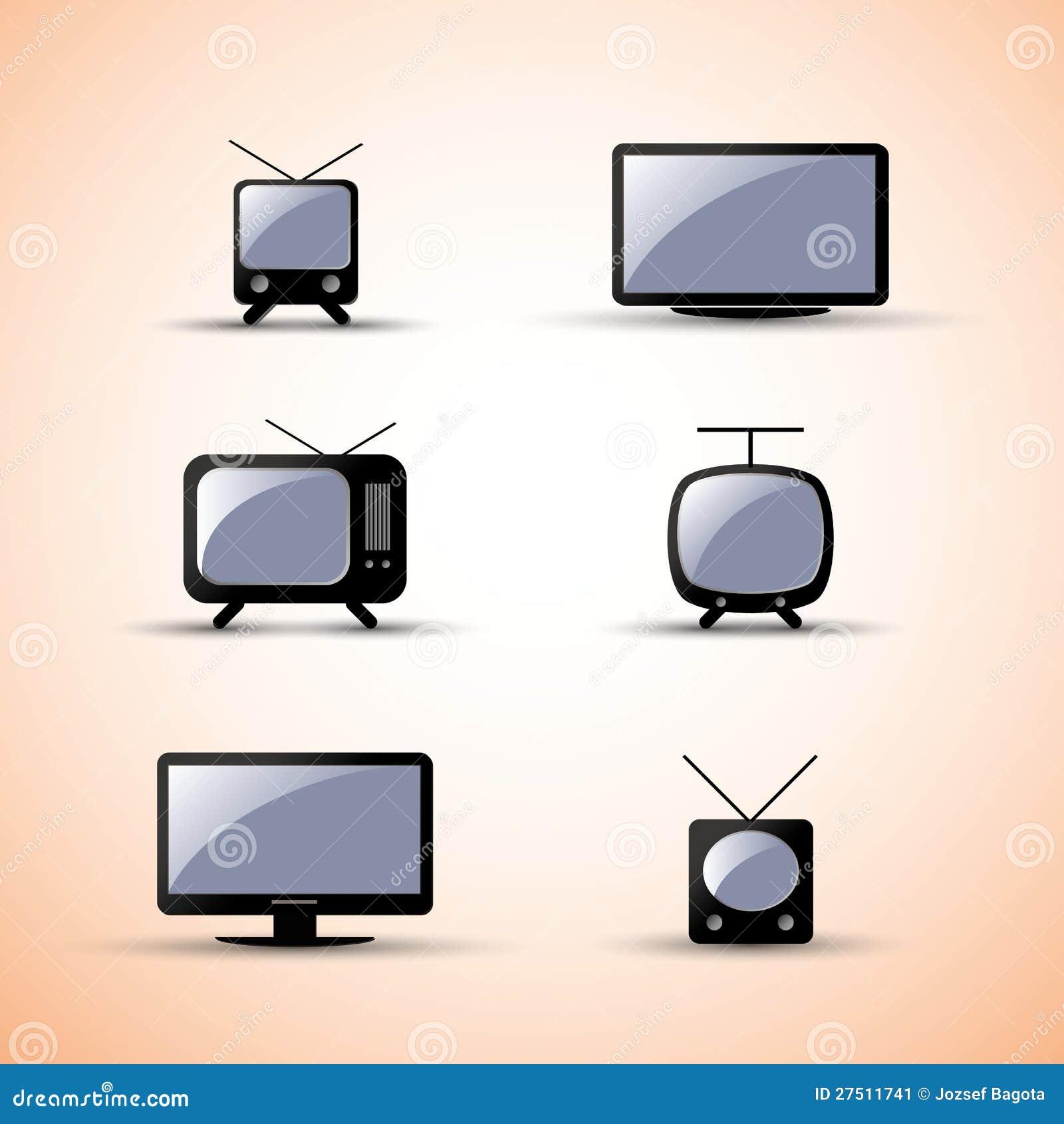 De elementen van het ontwerp van het web communicatie apparaten vector illustratie - Moderne apparaten ...