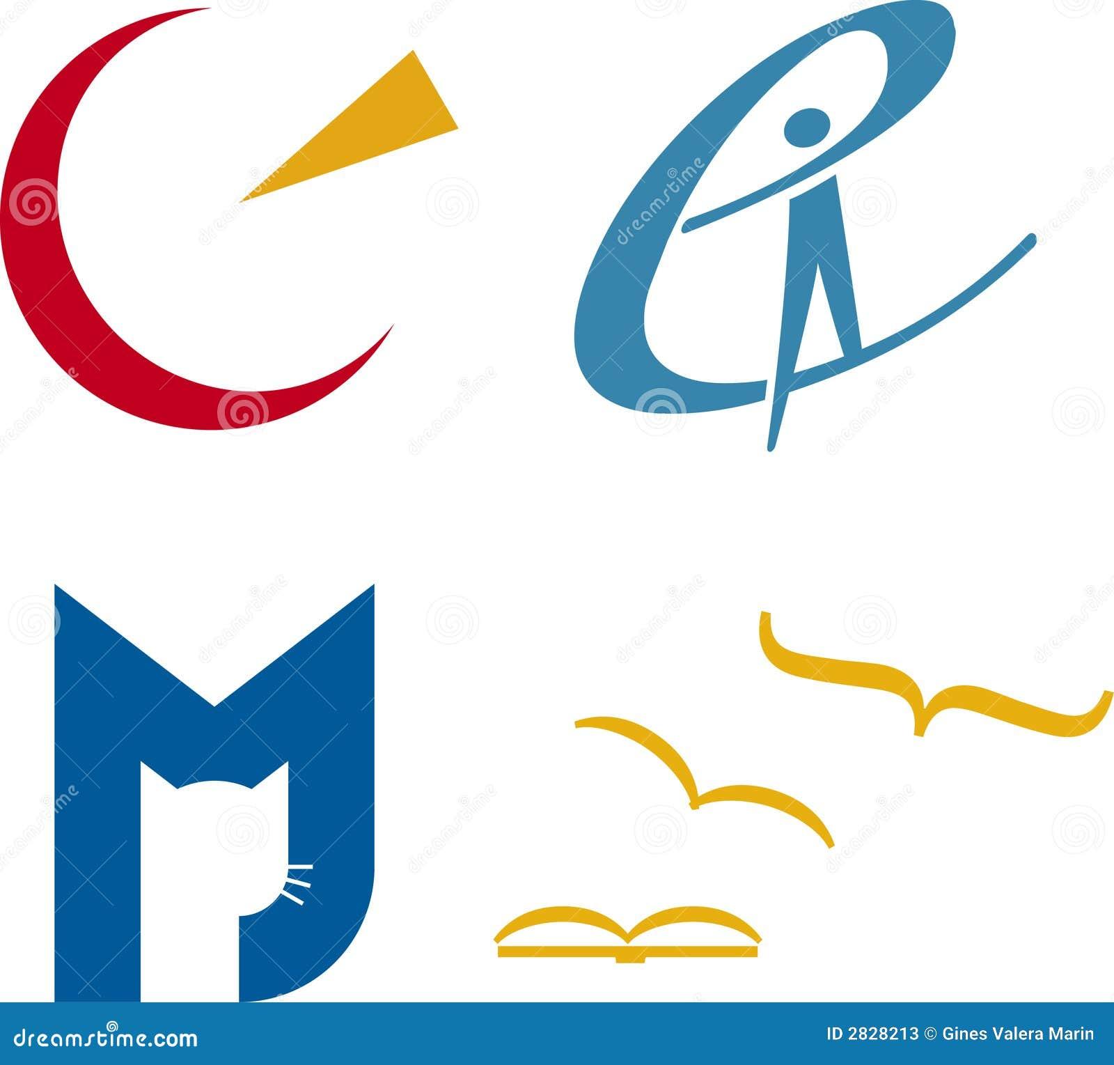 De emblemen van het concept (vector)