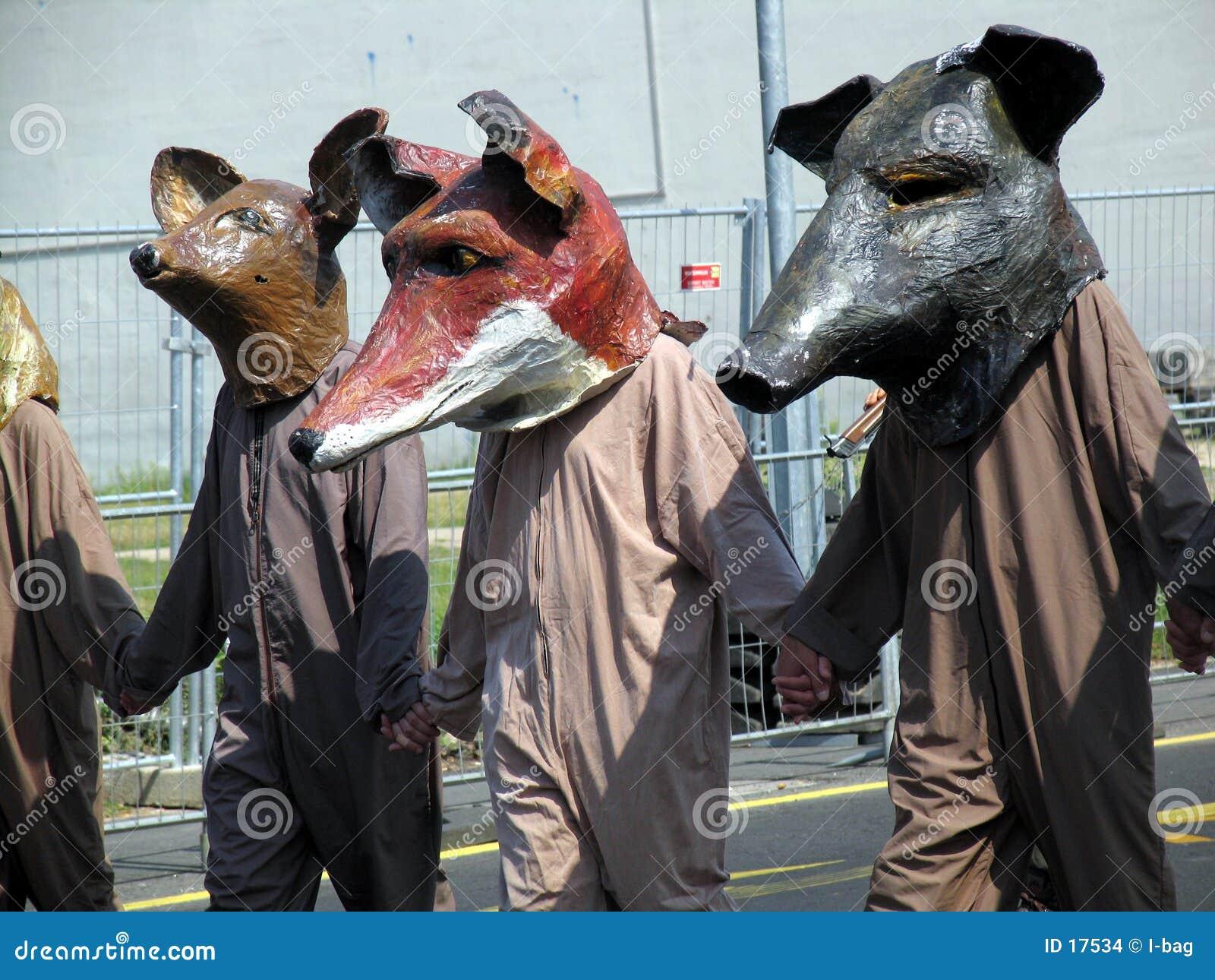 De encontro à demonstração dos caçadores