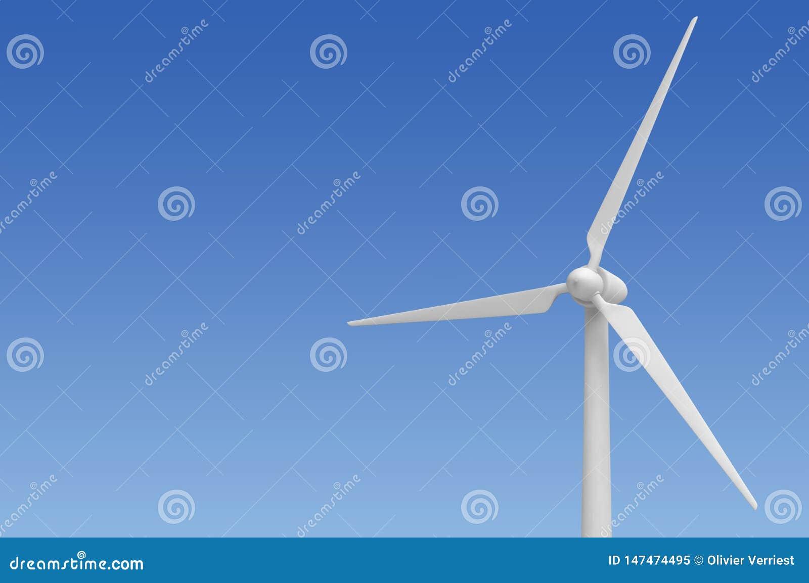 De energie alternatieve elektriciteit van de windturbine