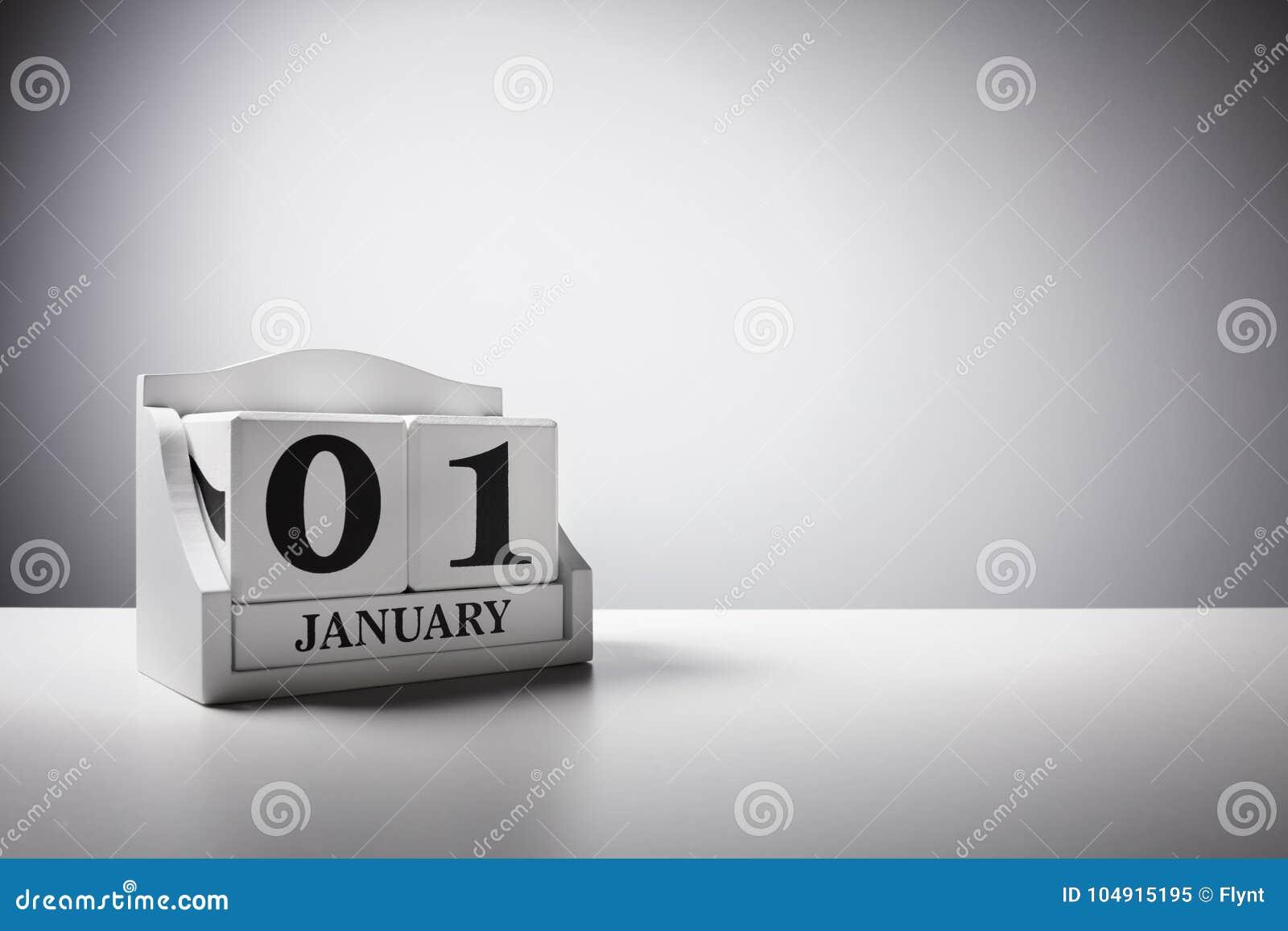 1 de enero concepto del fondo del calendario por Año Nuevo