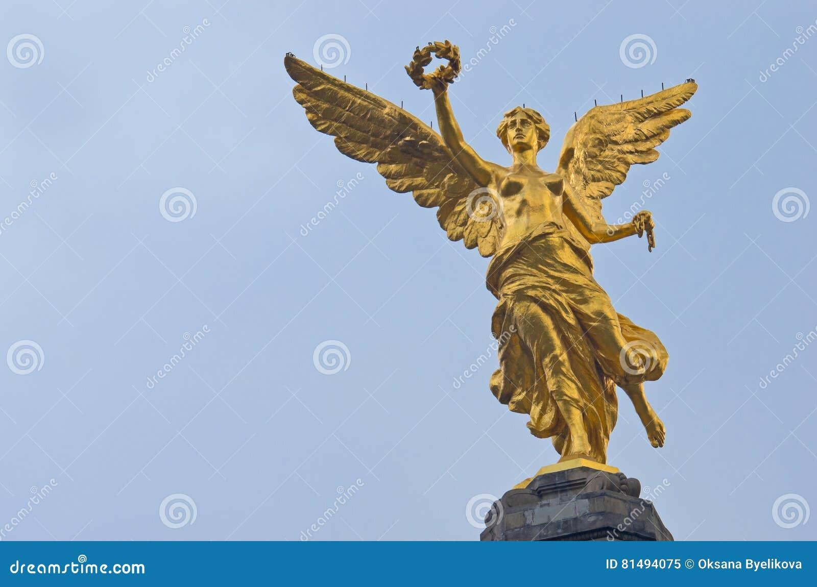 De Engel van Onafhankelijkheid in Mexico-City, Mexico