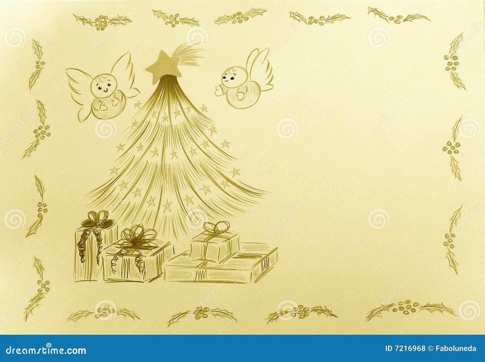 De Engelen van de rookwolk door de Kerstboom