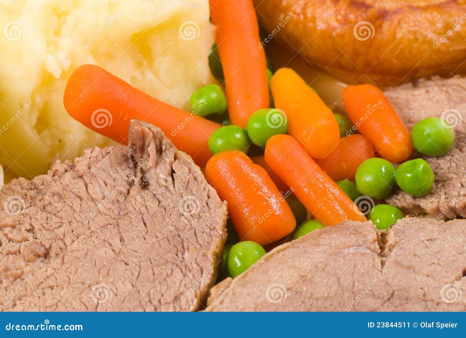 De Engelse lunch van de Zondag