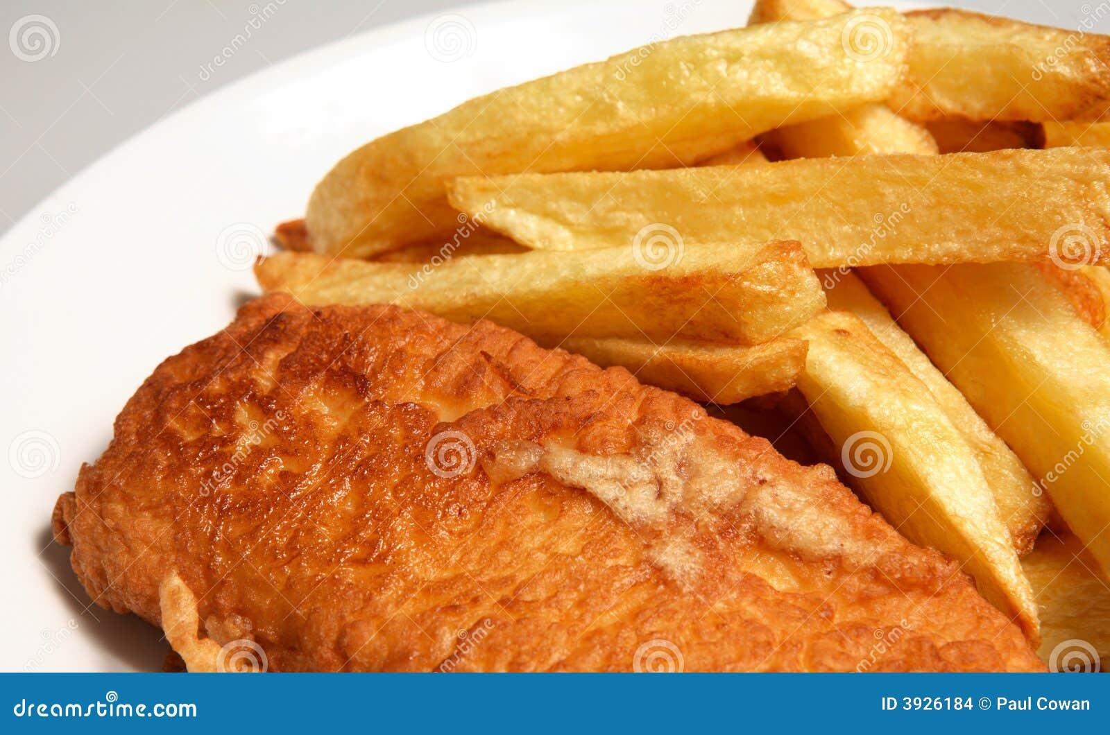De Engelse maaltijd van vissen en van gebraden gerechten