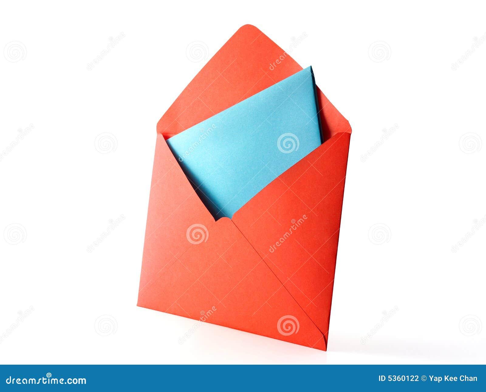 De envelop van de kleur