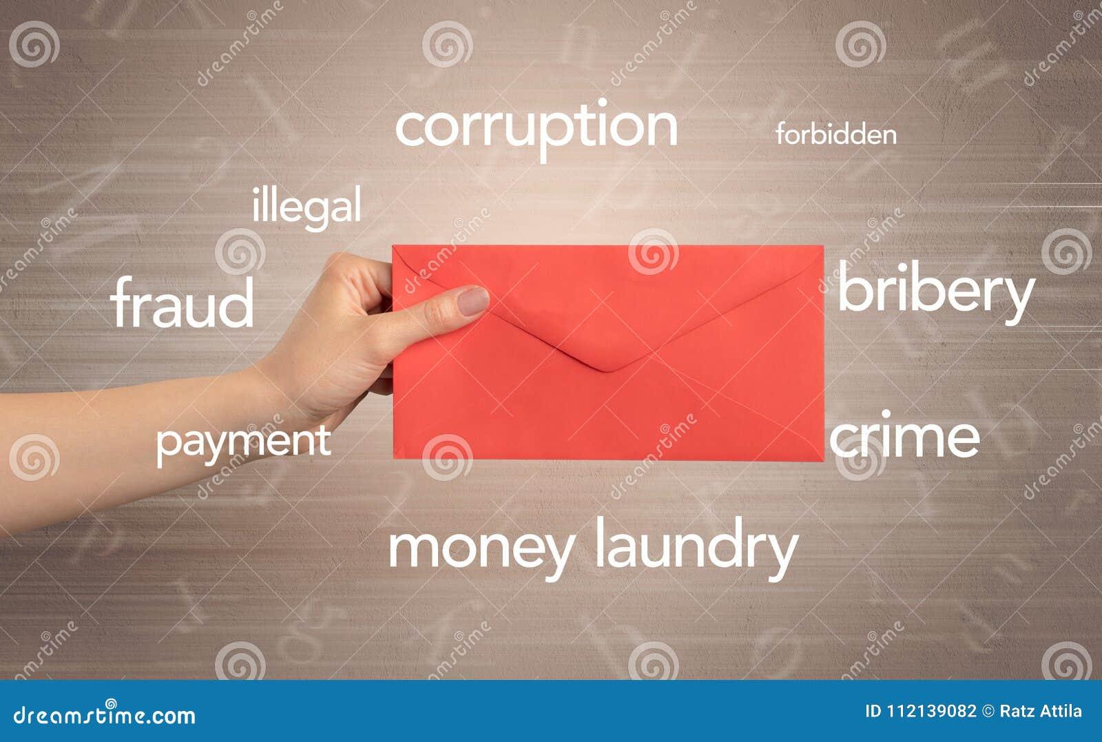 De envelop van de handholding met rond woorden