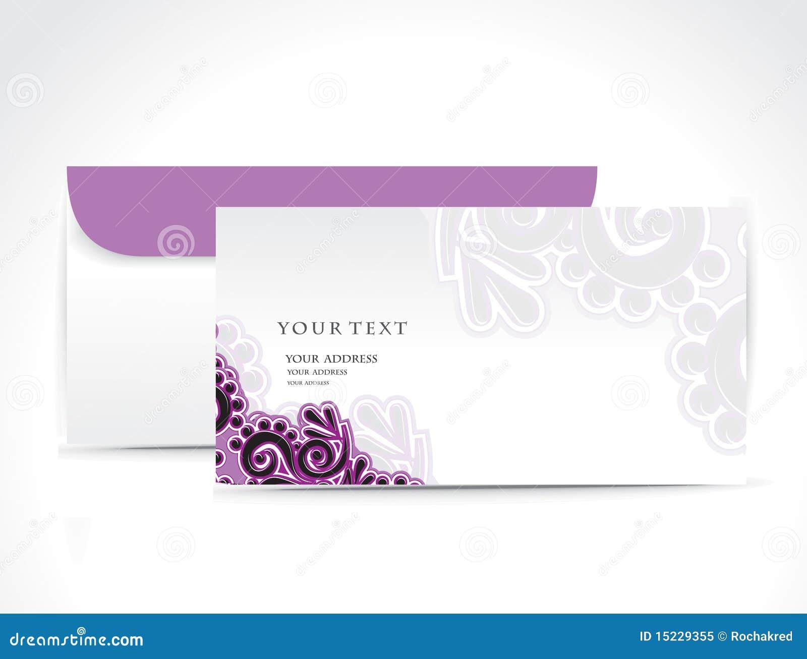 De envelop van het document