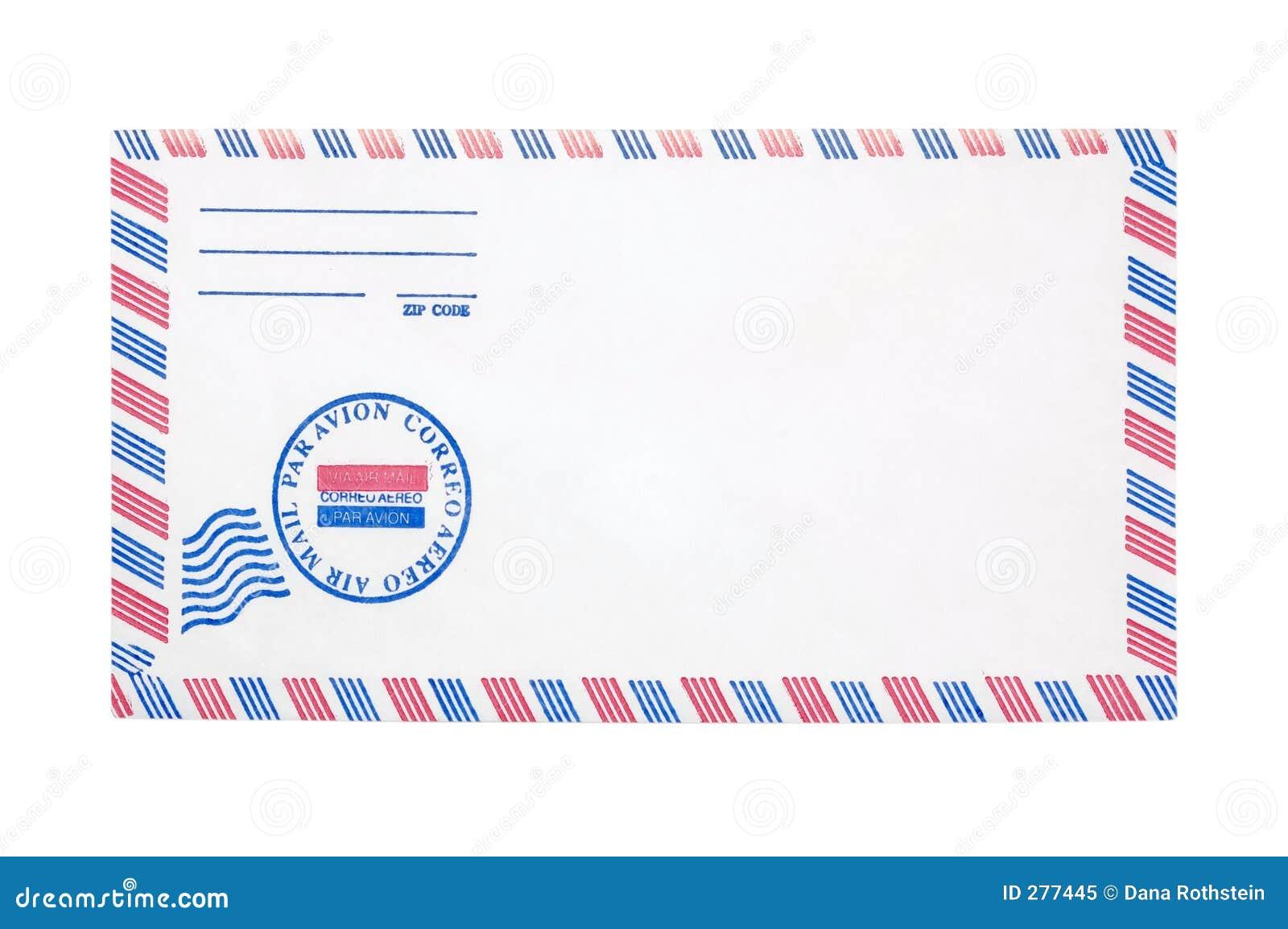 De Envelop van het luchtpost