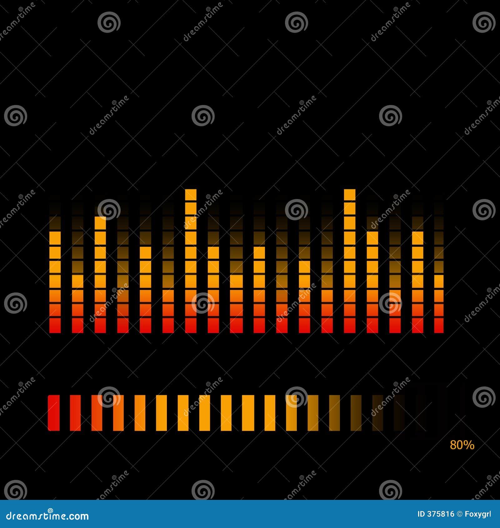 De Equaliser van het volume