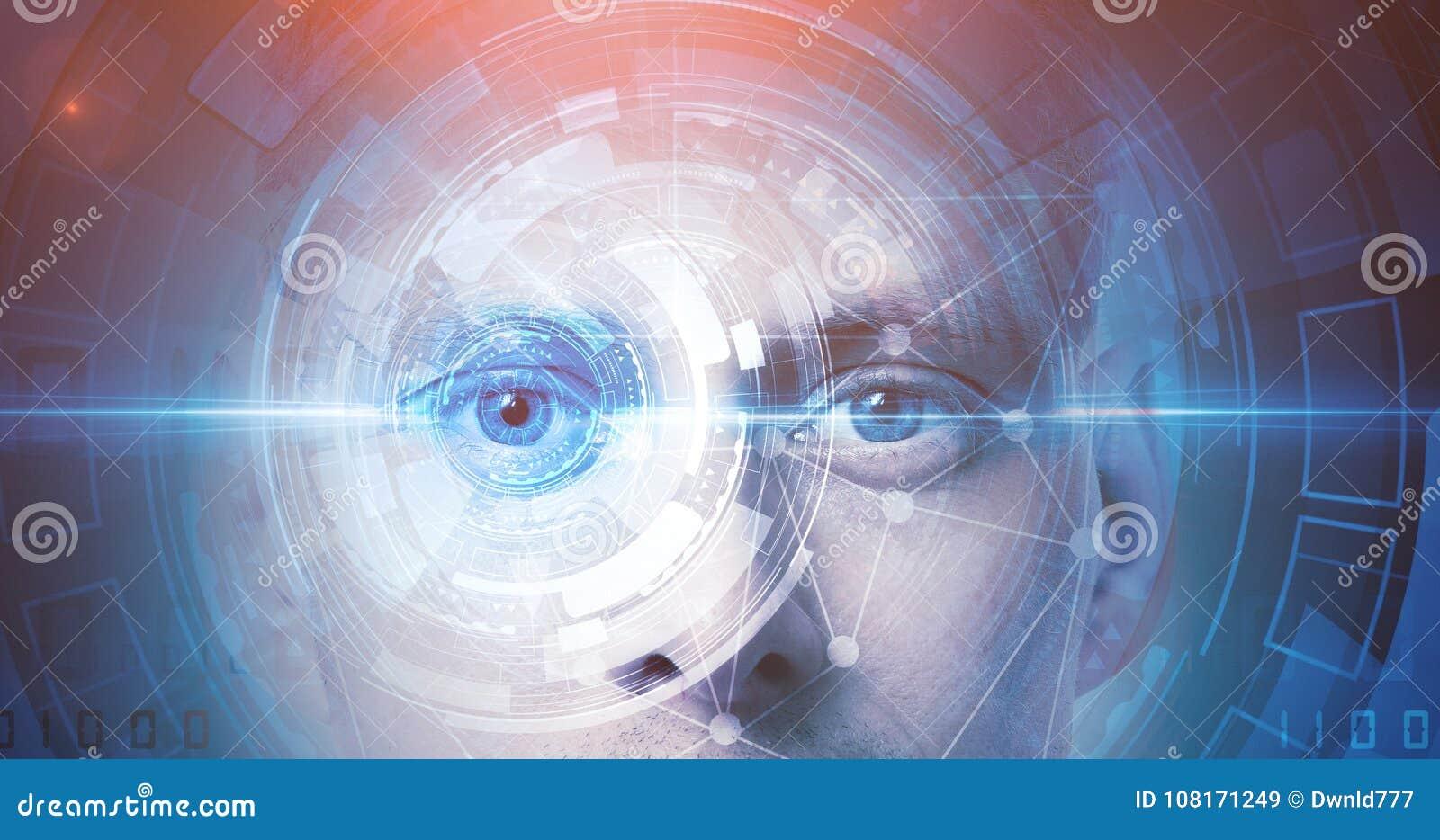 De erkenningstechnologie van het mensengezicht
