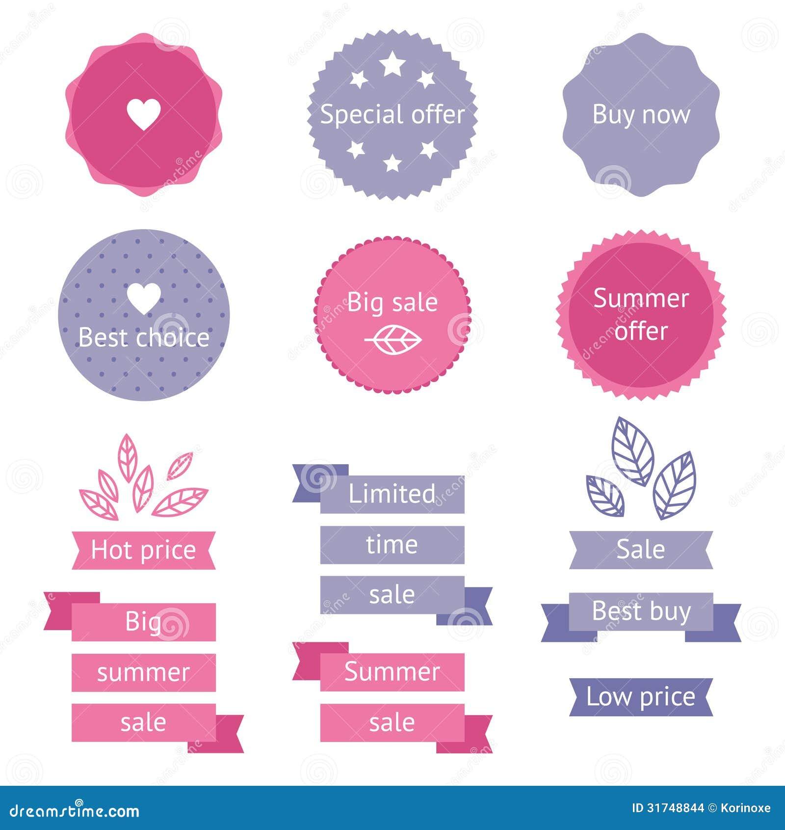 De etiketten van de de zomerverkoop