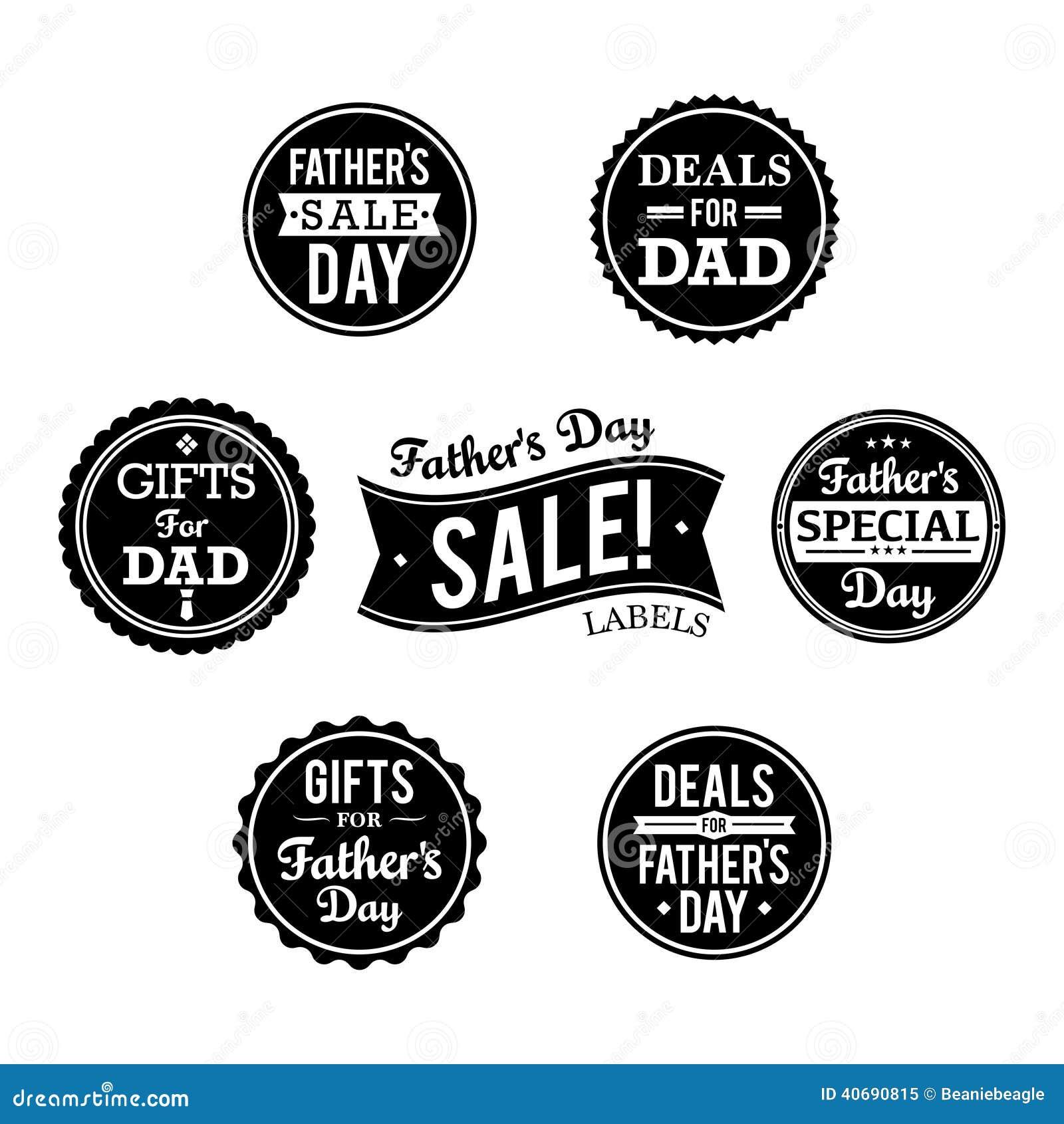 De Etiketten van de vaderdagverkoop