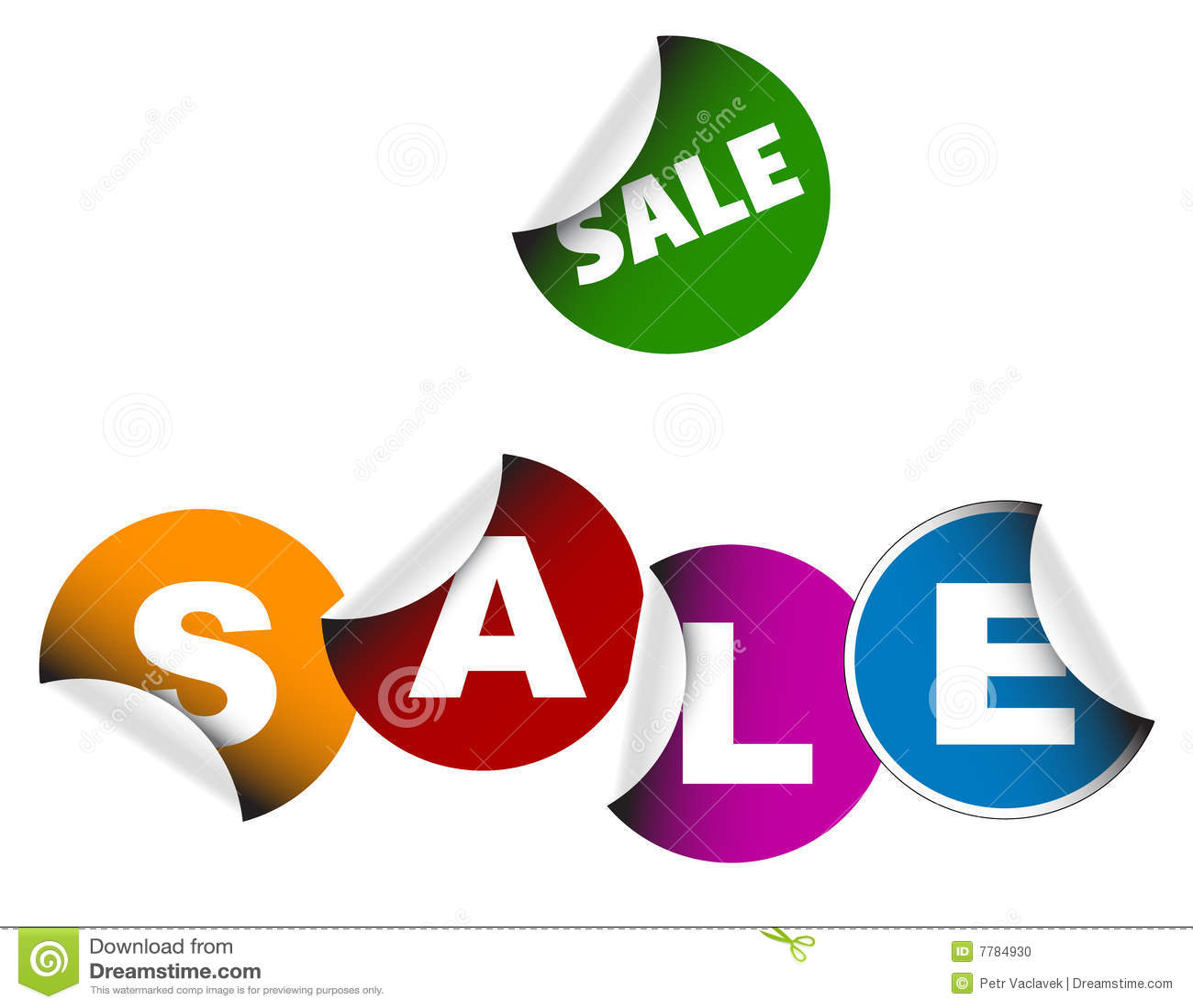 De etiketten van de verkoop stock foto afbeelding 7784930 - Zinkt de verkoop ...
