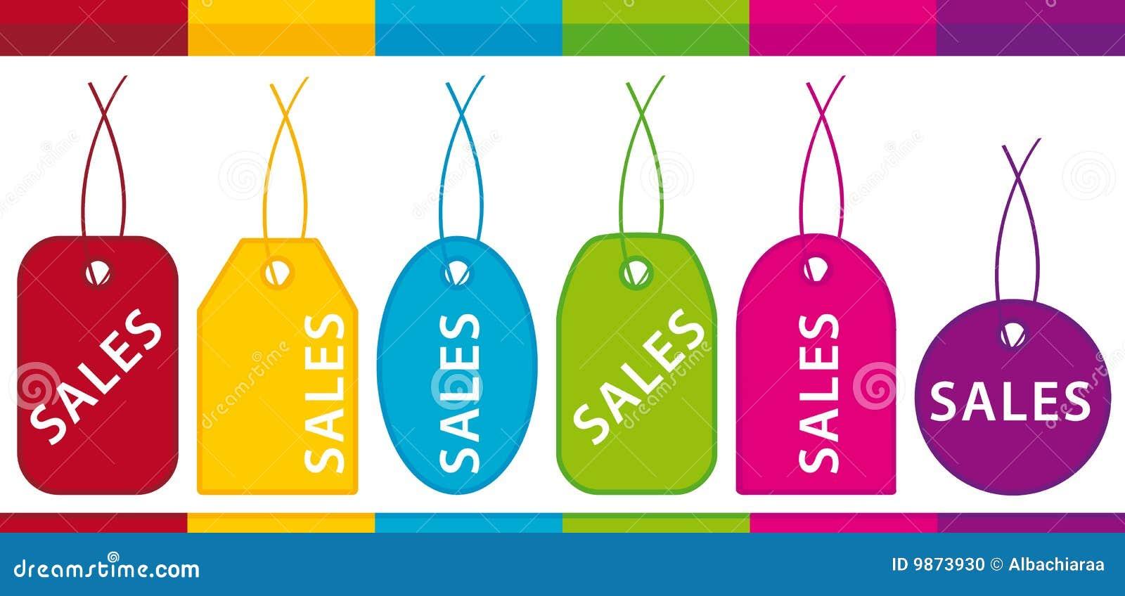 De etiketten van de verkoop