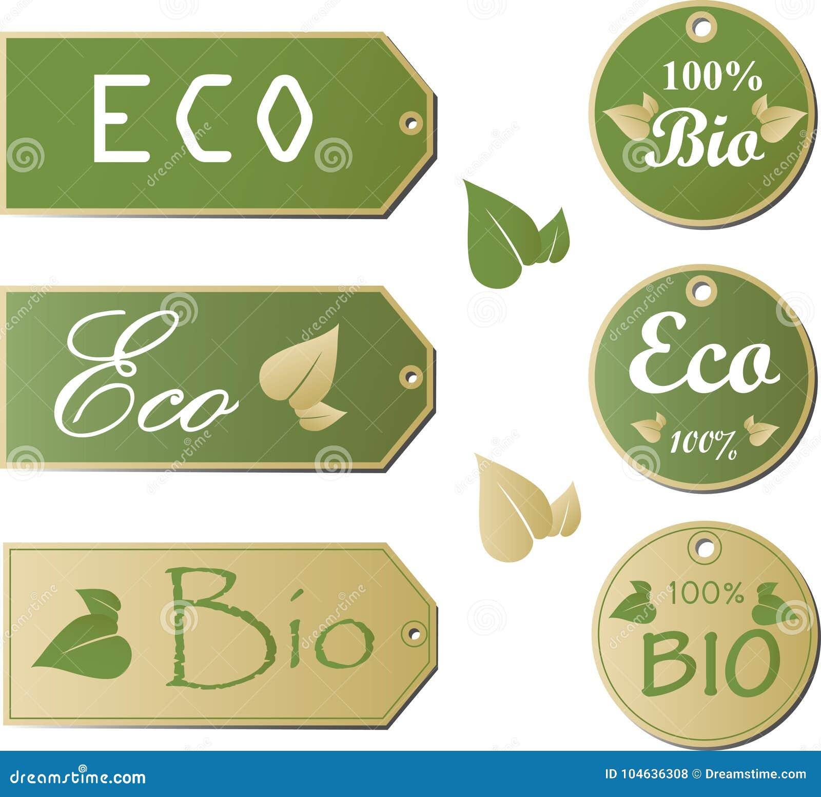 Download De Etiketten Van Eco Met Retro Uitstekend Ontwerp Vector Vector Illustratie - Illustratie bestaande uit symbool, glanzend: 104636308