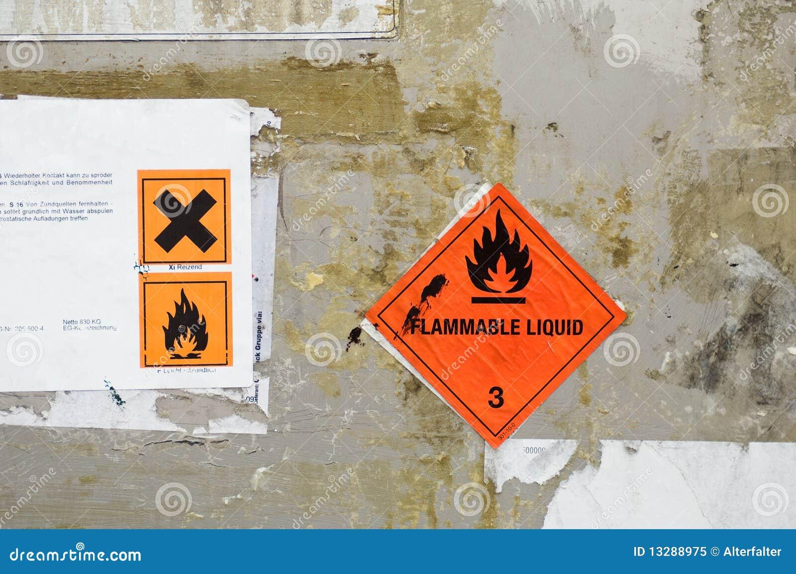 De etiketten van het gevaar