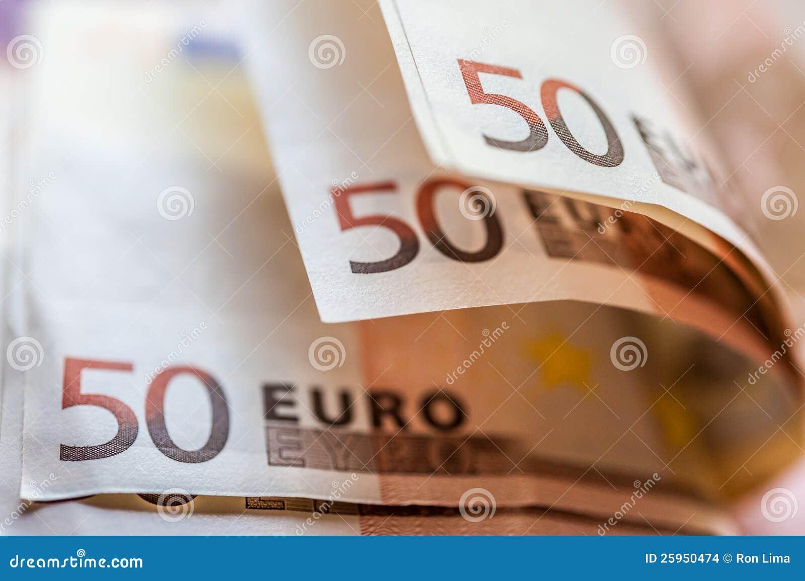 De euro Bankbiljetten van het Geld