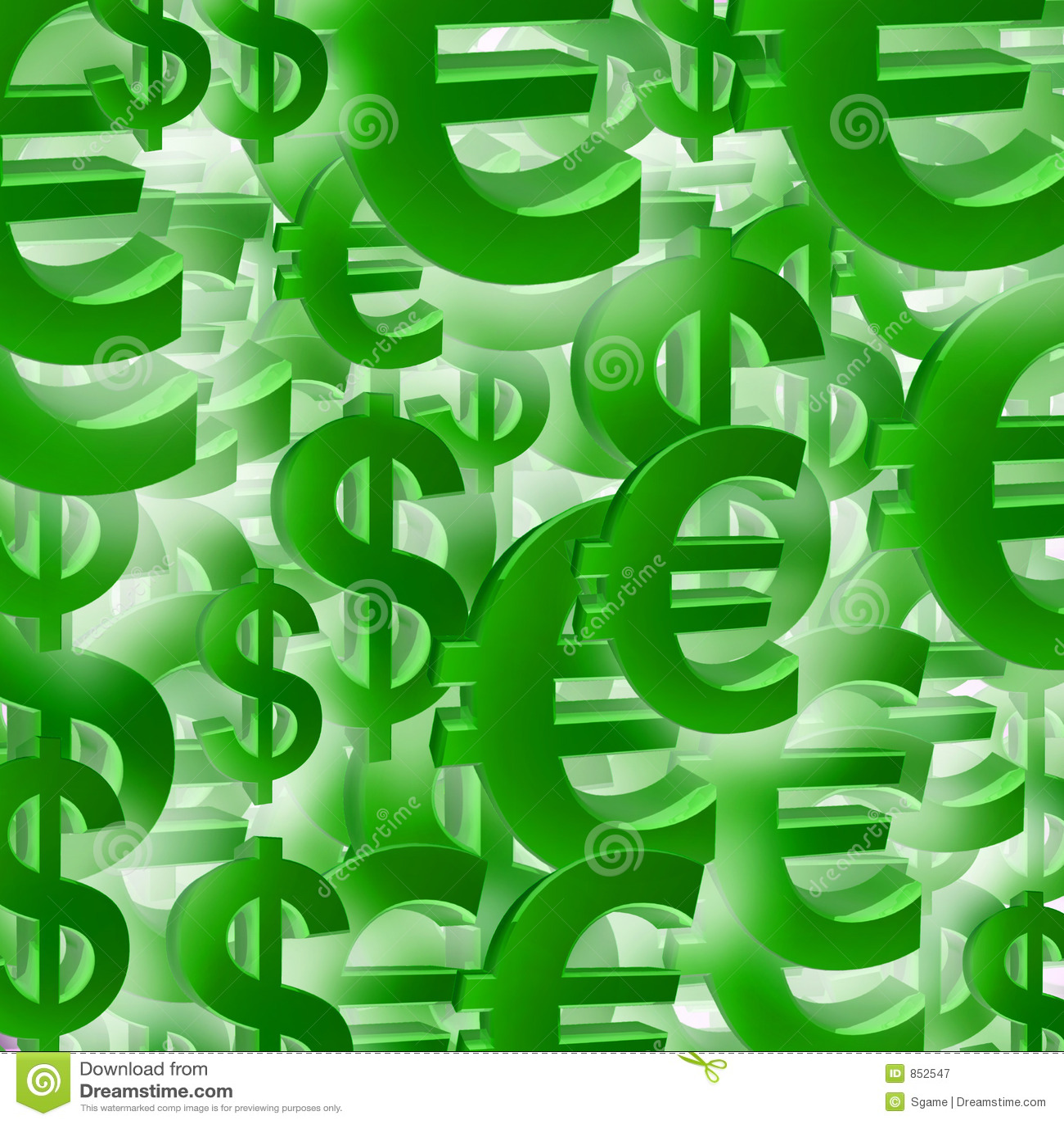 De euro klomp van het dollarsymbool